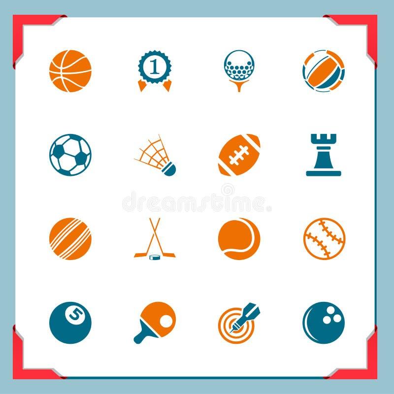 De pictogrammen van de sport | In een frame reeks stock illustratie