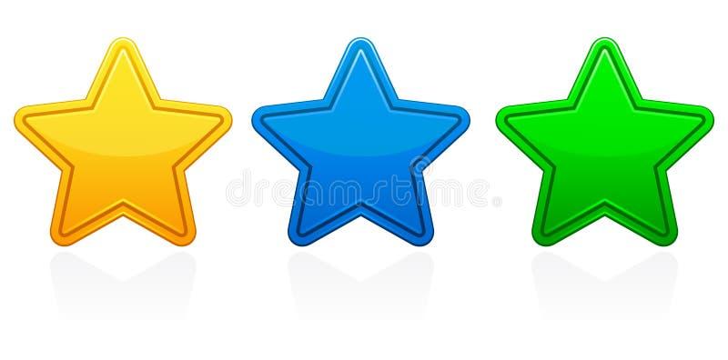 De Pictogrammen van de ster stock illustratie