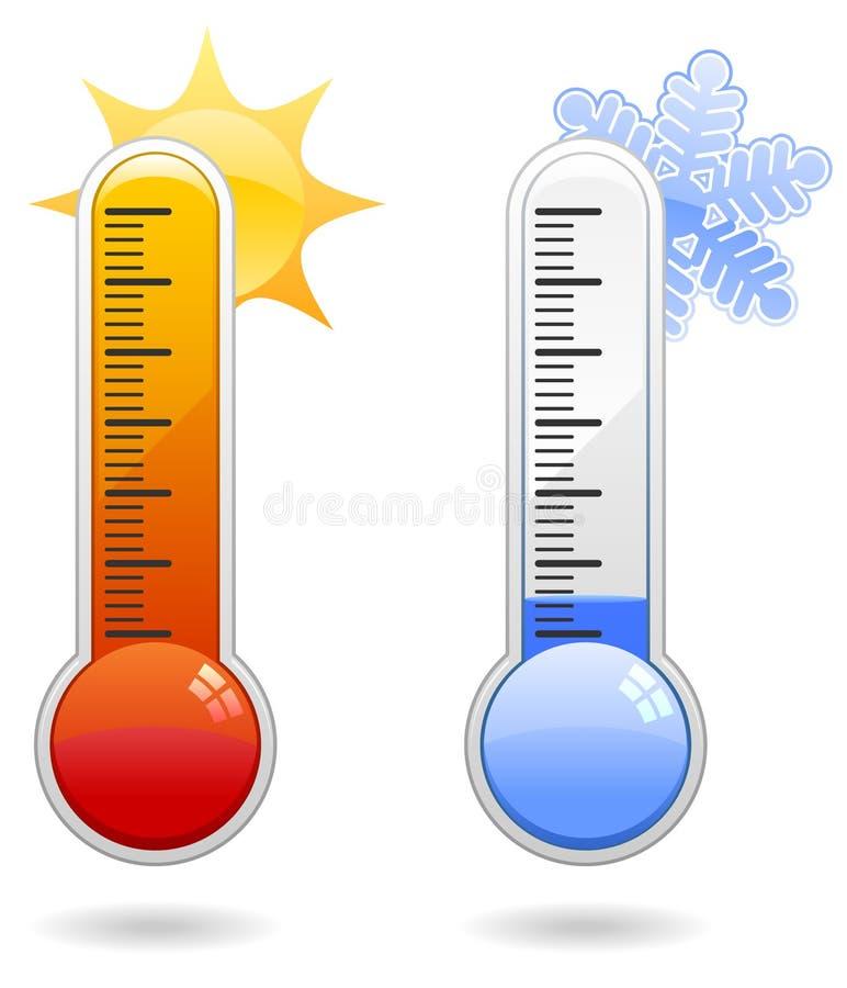 De Pictogrammen van de thermometer