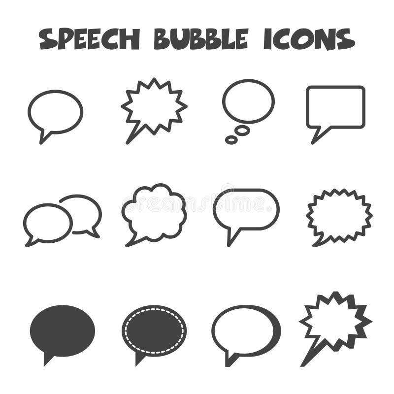 De pictogrammen van de toespraakbel vector illustratie