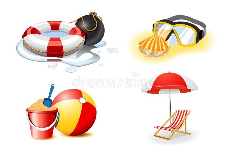 De pictogrammen van de vakantie en van de vakantie