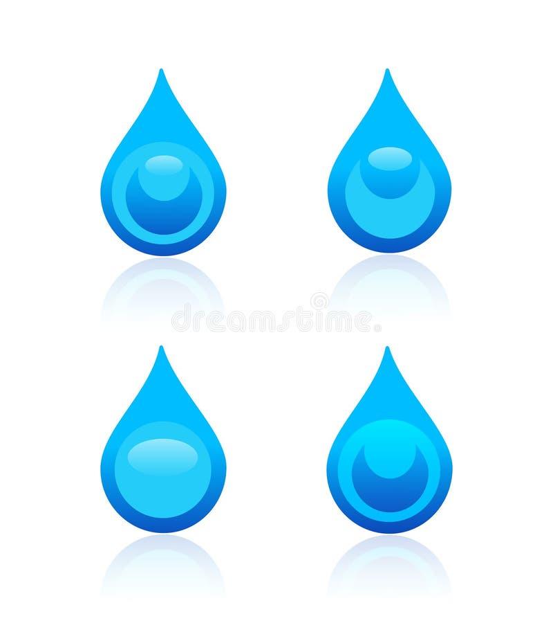 De pictogrammen van de waterdaling vector illustratie