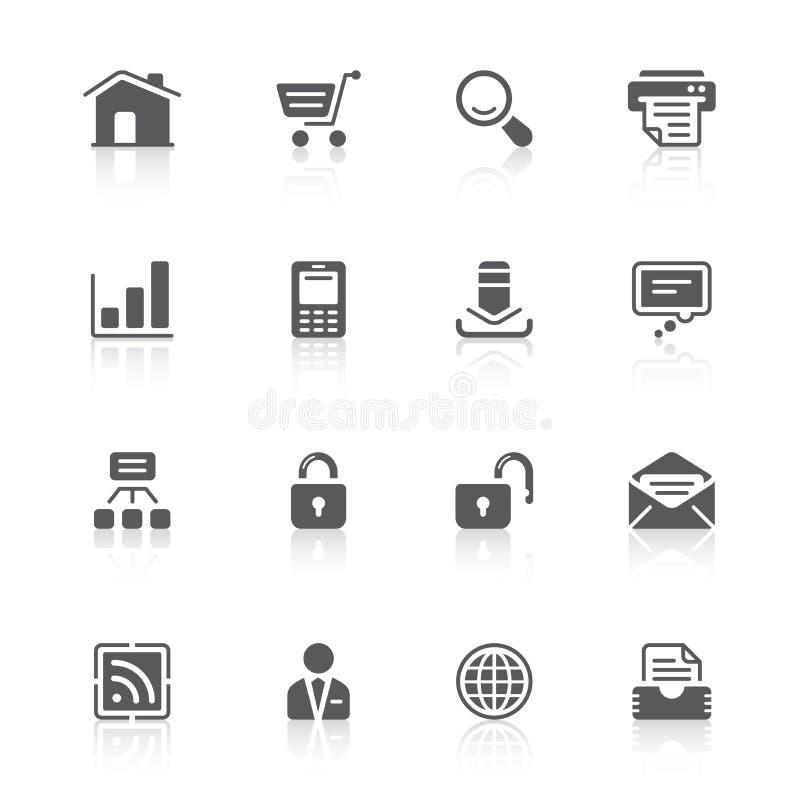 De pictogrammen van de website stock illustratie