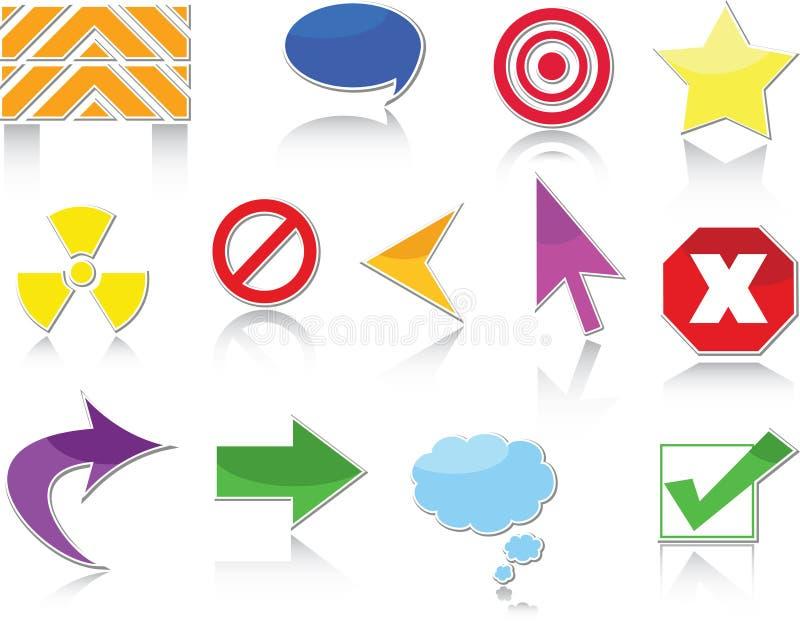 De pictogrammen van de website royalty-vrije illustratie