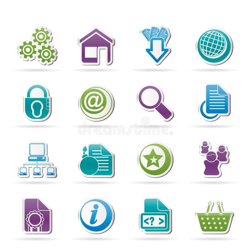 De pictogrammen van de website en van Internet royalty-vrije illustratie