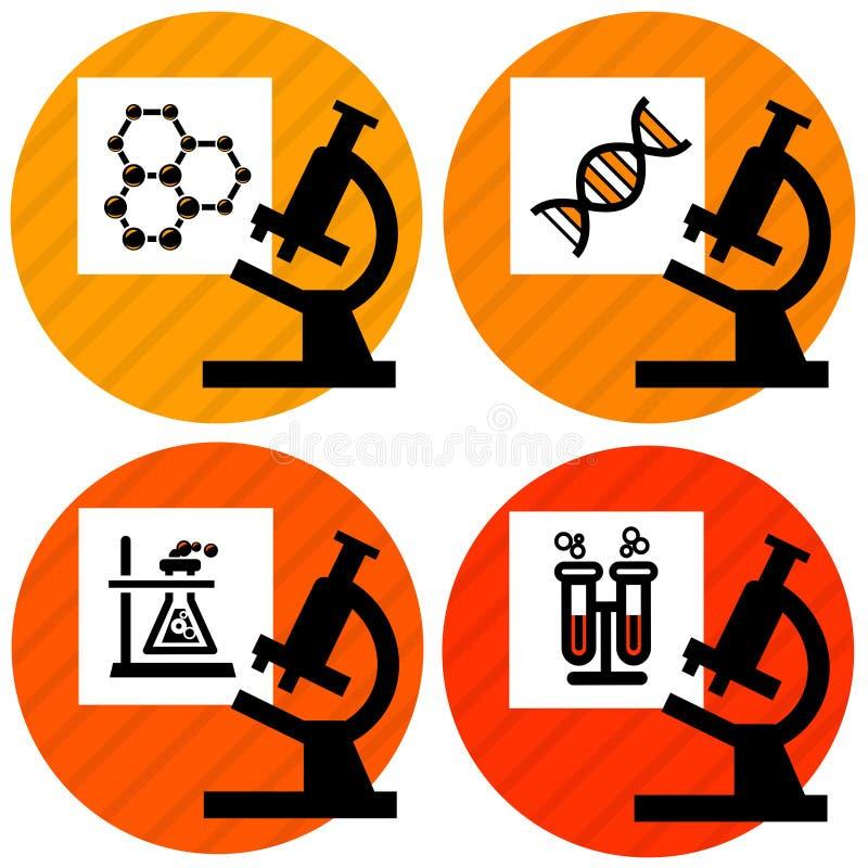 De pictogrammen van de wetenschap royalty-vrije illustratie