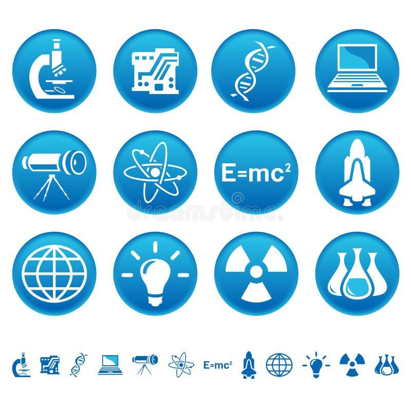 De pictogrammen van de wetenschap & van de technologie royalty-vrije illustratie