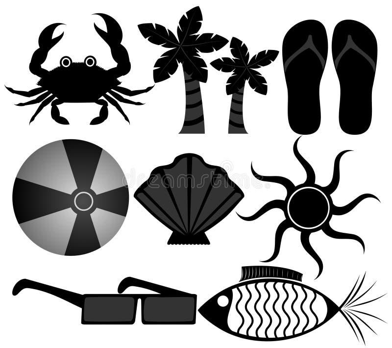 De Pictogrammen van de zomer vector illustratie