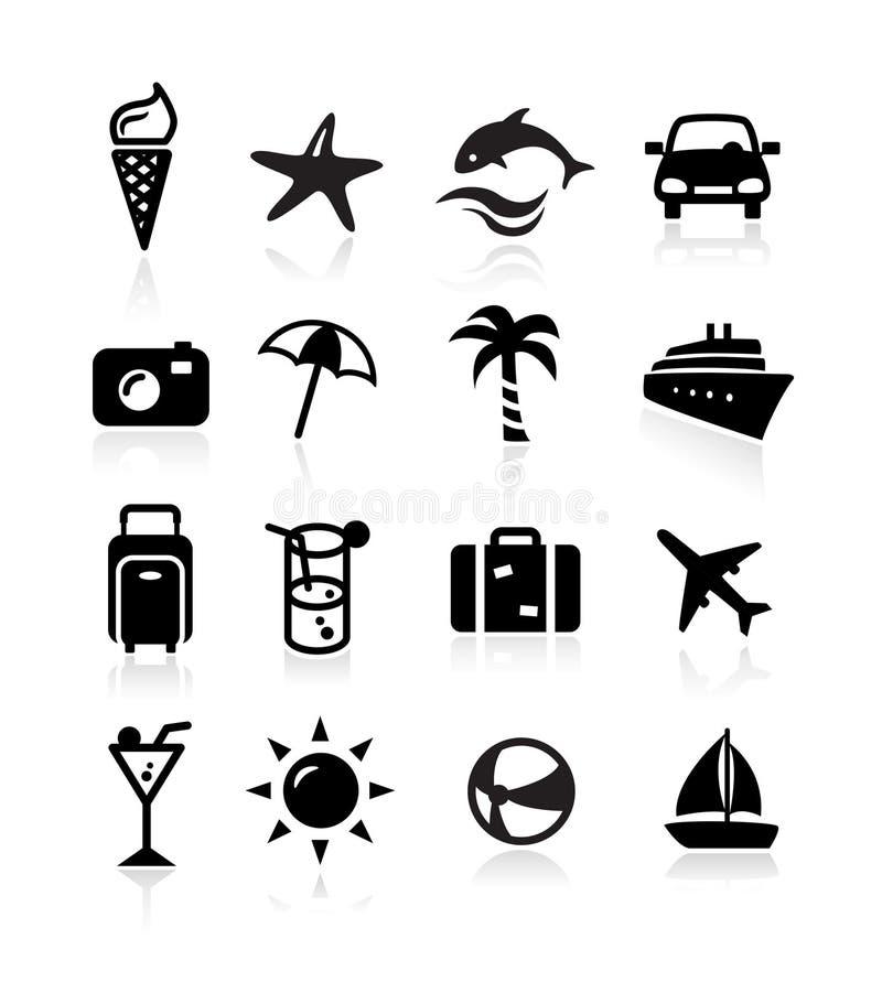 De Pictogrammen van de zomer stock illustratie
