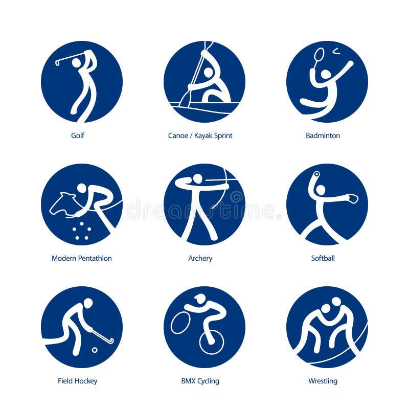 De pictogrammen van de zomersporten vector illustratie
