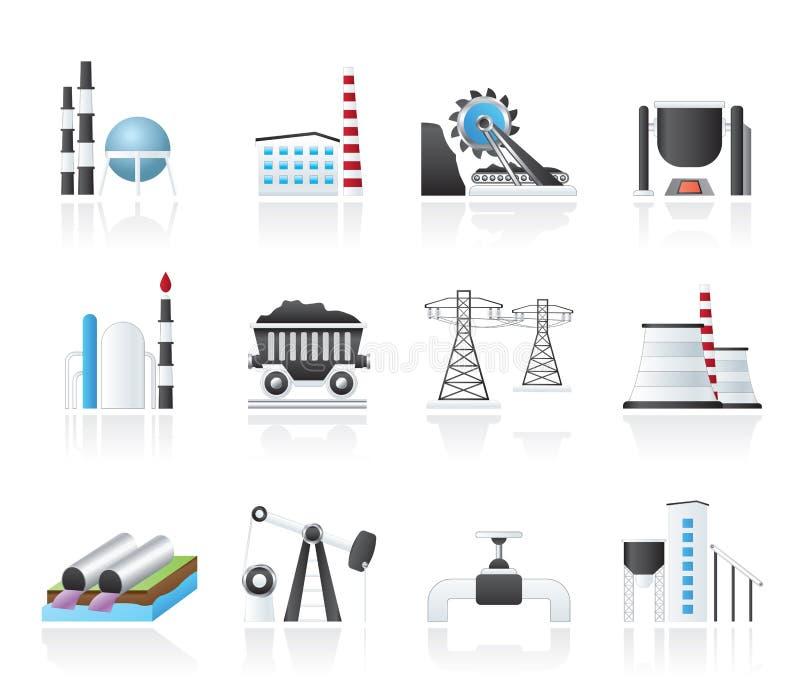 De pictogrammen van de zware industrie