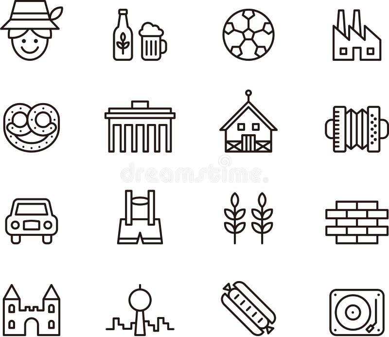 De pictogrammen van Duitsland royalty-vrije illustratie