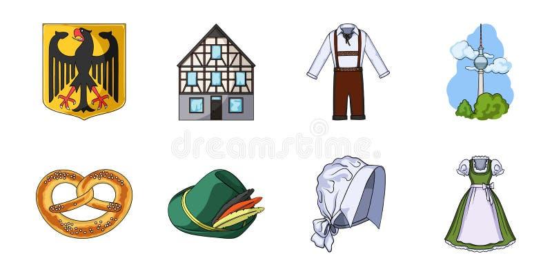 De pictogrammen van Duitsland van het land in vastgestelde inzameling voor ontwerp Van de het symboolvoorraad van Duitsland en va royalty-vrije illustratie