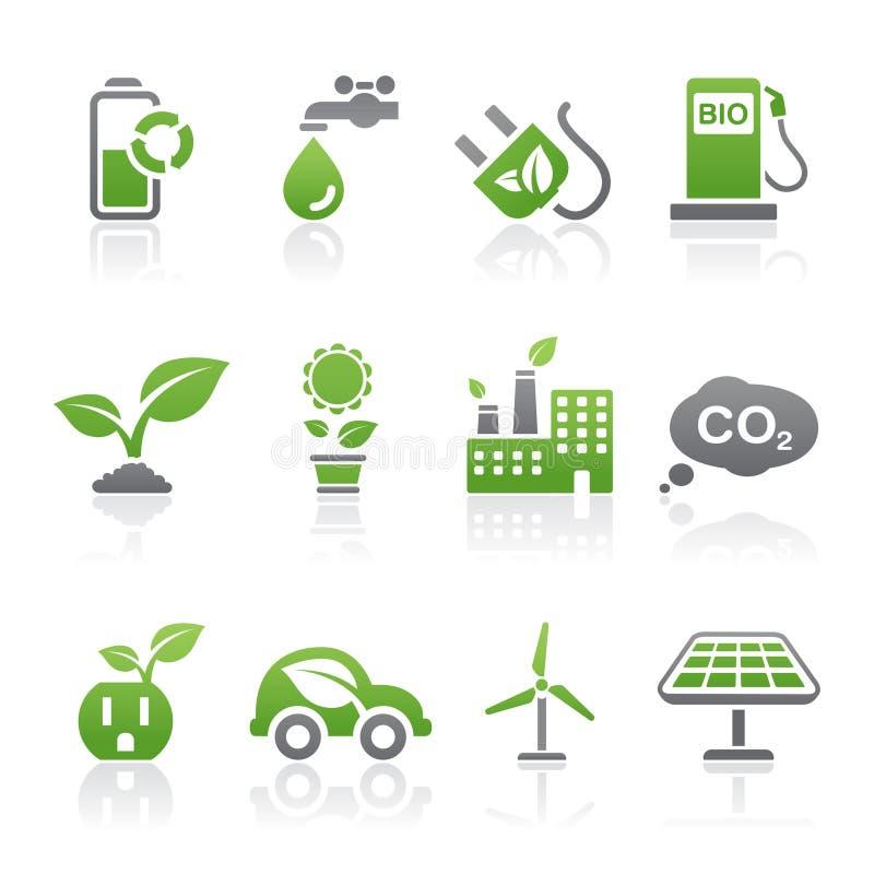 De pictogrammen van Eco royalty-vrije illustratie