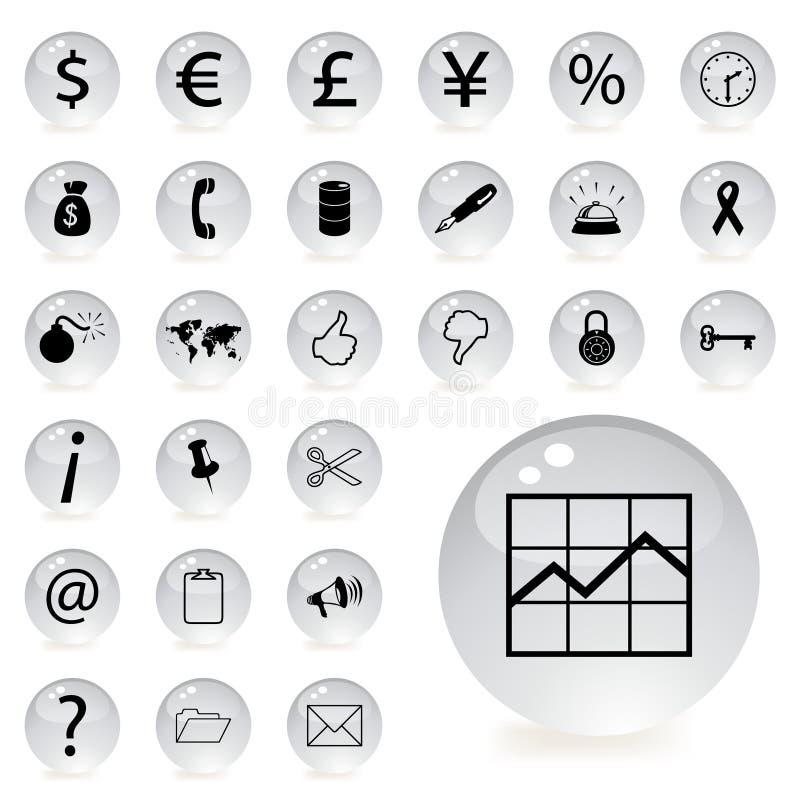 De pictogrammen van financiën en van het bankwezen vector illustratie