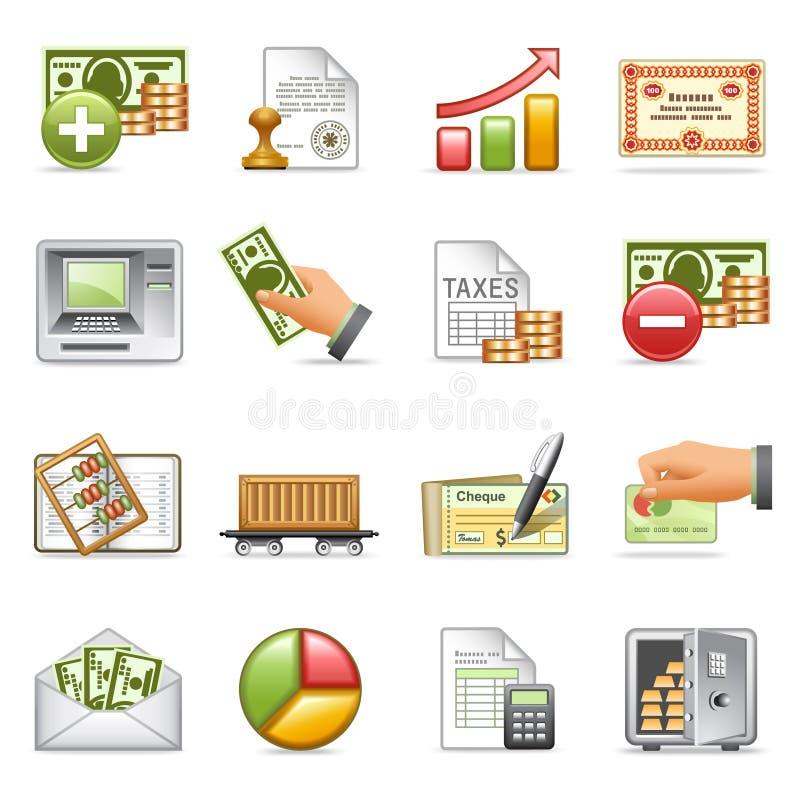 De pictogrammen van financiën, reeks 2. stock foto