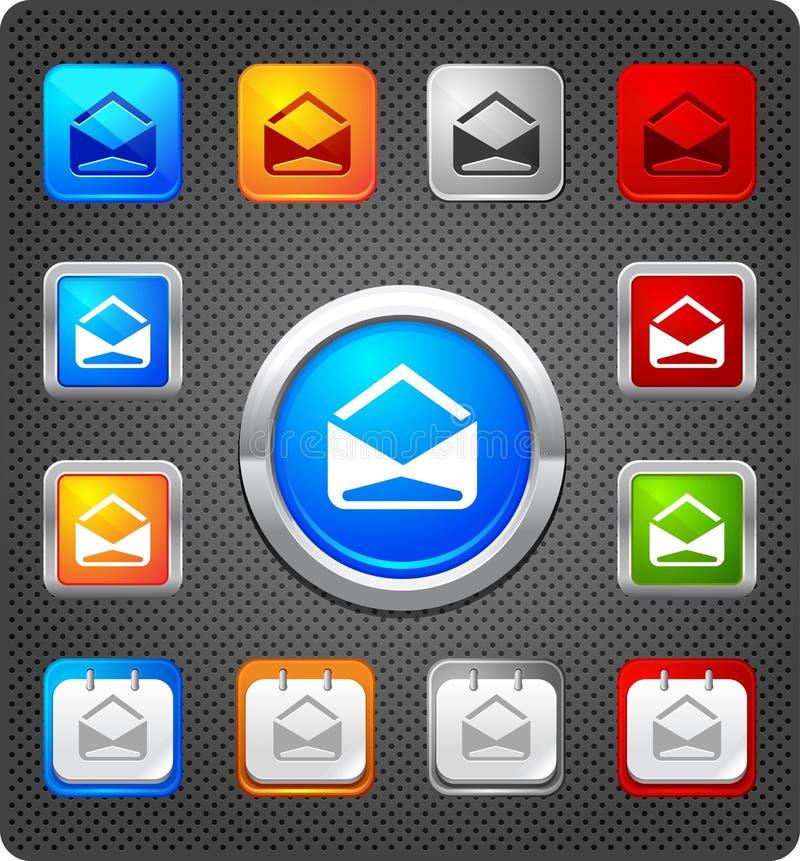 De pictogrammen van Glitz - e-mail royalty-vrije illustratie