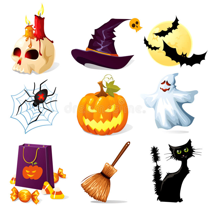 De pictogrammen van Halloween vector illustratie