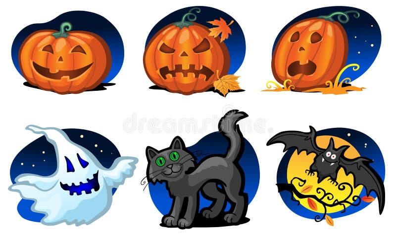 De pictogrammen van Halloween stock afbeelding
