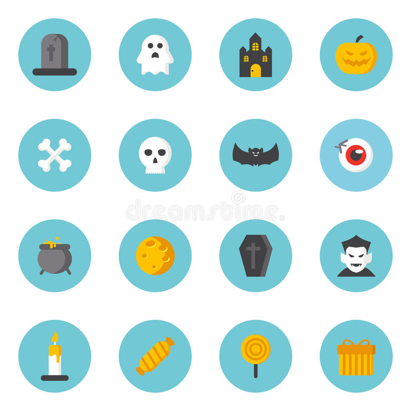 De pictogrammen van Halloween royalty-vrije illustratie