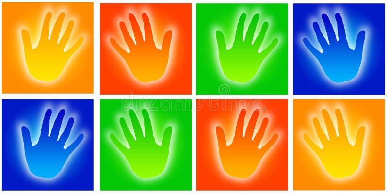 De pictogrammen van handen vector illustratie