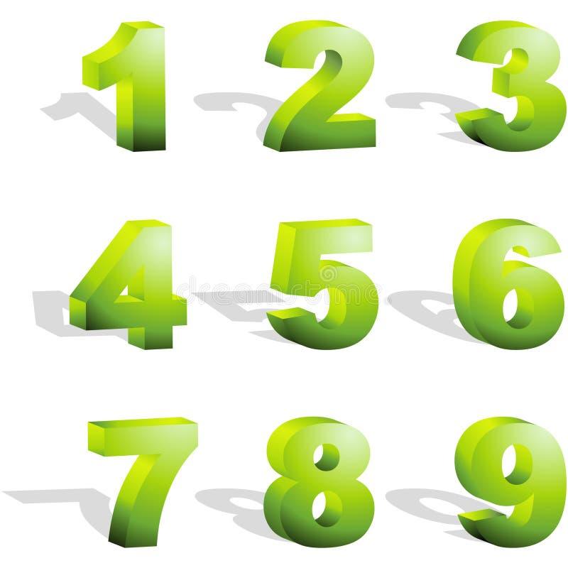 De pictogrammen van het aantal. royalty-vrije illustratie