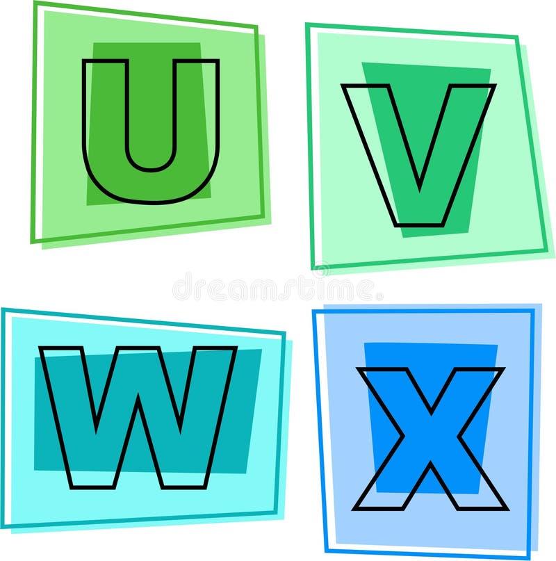 De pictogrammen van het alfabet vector illustratie