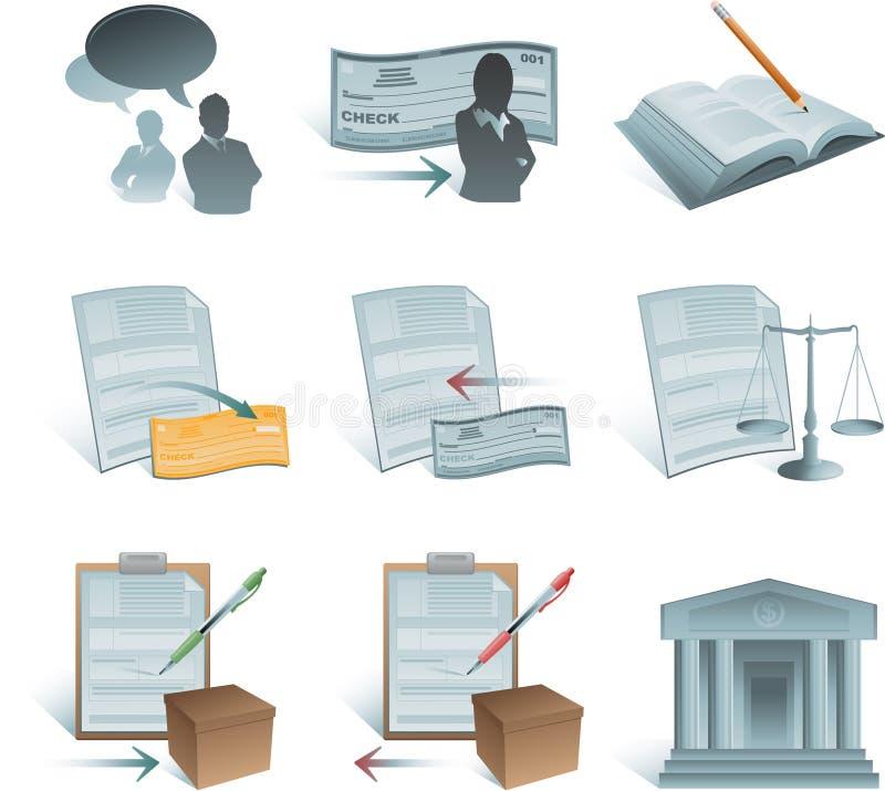 De pictogrammen van het bankwezen vector illustratie