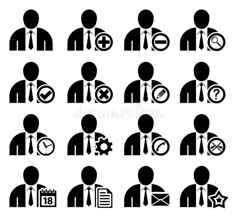 De pictogrammen van het beheer en van het beleid royalty-vrije illustratie