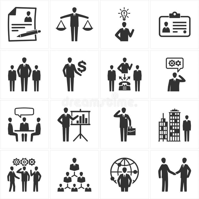 De Pictogrammen van het beheer en van Menselijke middelen stock illustratie