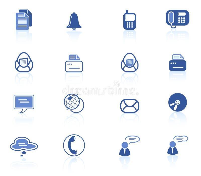 De pictogrammen van het bureau vector illustratie