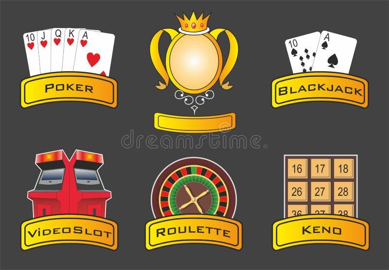 De pictogrammen van het casino royalty-vrije illustratie
