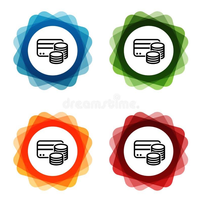 De Pictogrammen van het Creditcardcontante geld Eps10 Vector vector illustratie
