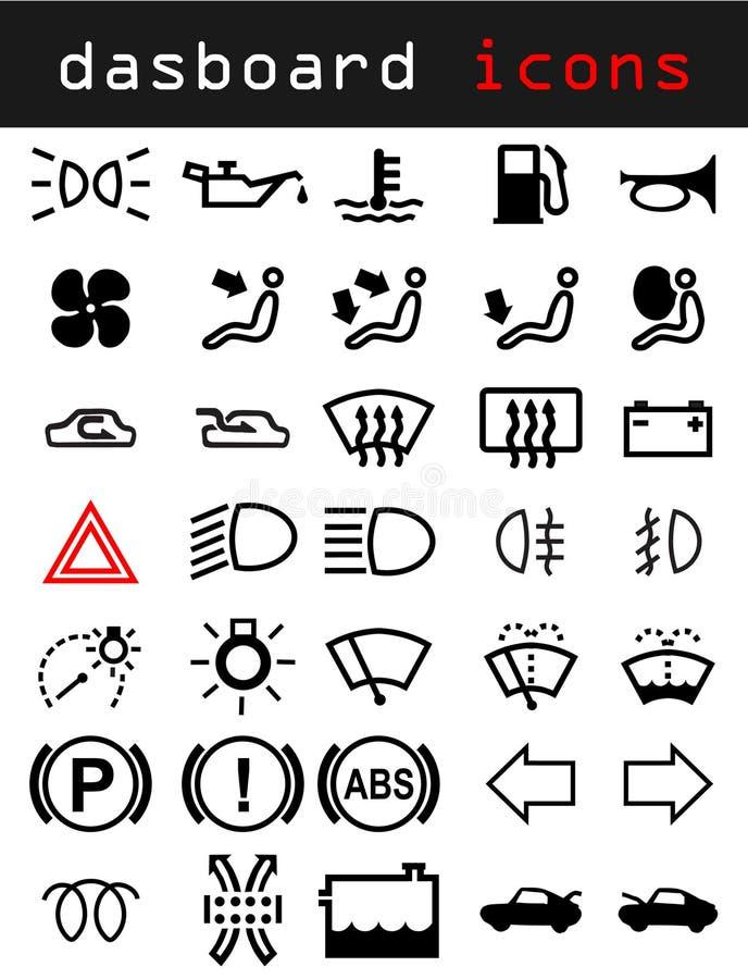 De pictogrammen van het dashboard