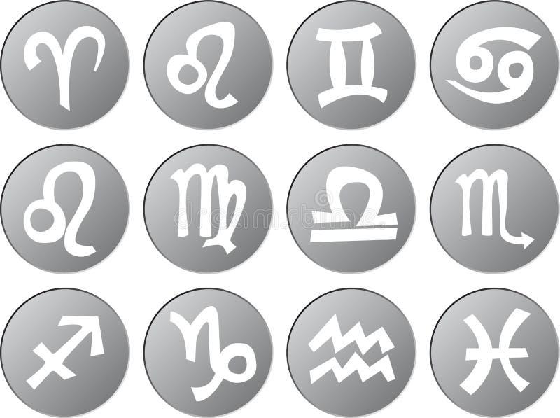 De pictogrammen van het dierenriemteken royalty-vrije illustratie