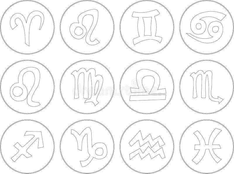 De pictogrammen van het dierenriemteken vector illustratie
