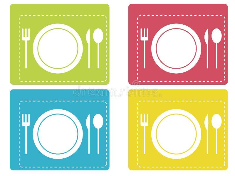 De pictogrammen van het diner