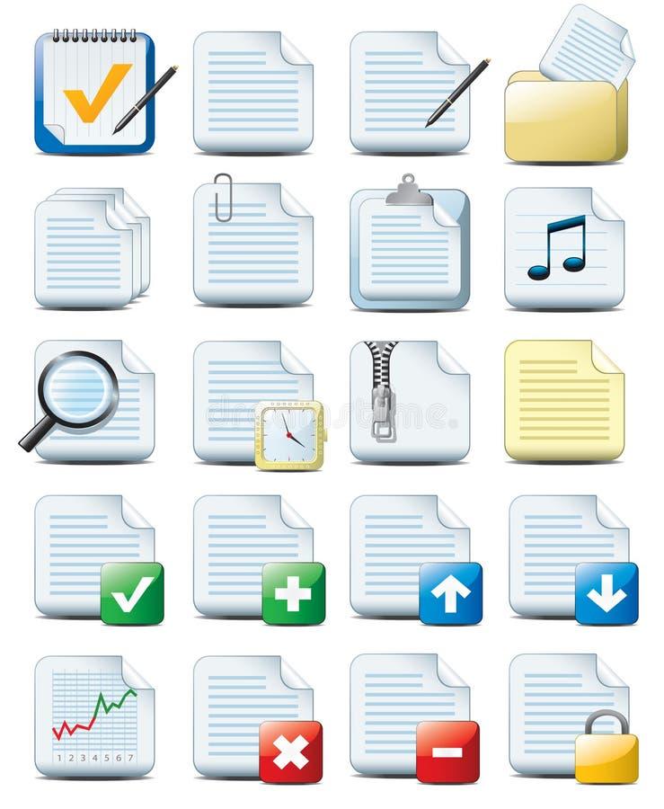 De pictogrammen van het document