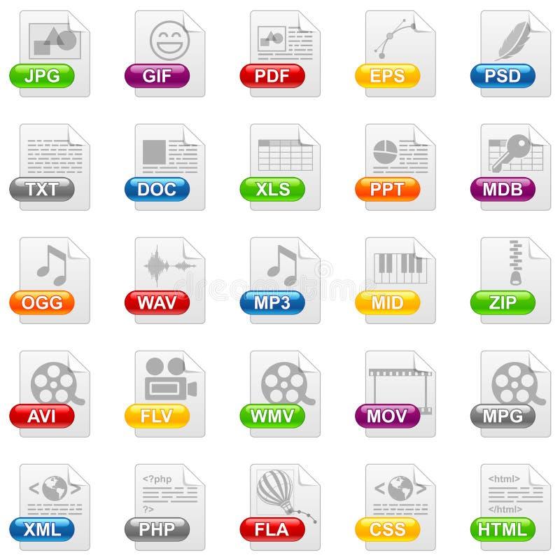 De pictogrammen van het dossier stock illustratie
