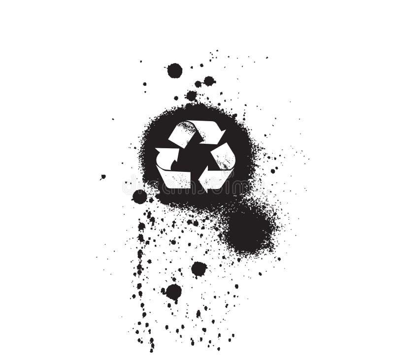 de pictogrammen van het ecologiesymbool: grungy royalty-vrije illustratie