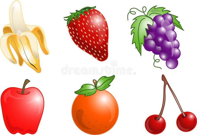 De pictogrammen van het fruit stock illustratie