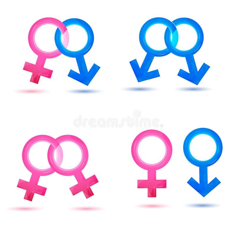 De pictogrammen van het geslacht stock illustratie