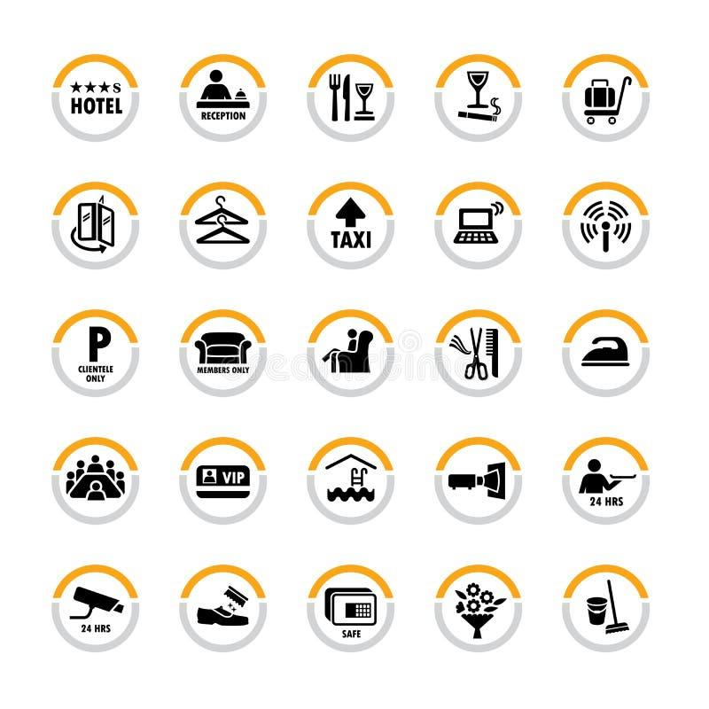 De pictogrammen van het hotel royalty-vrije illustratie
