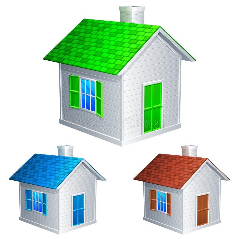 De pictogrammen van het huis. stock illustratie