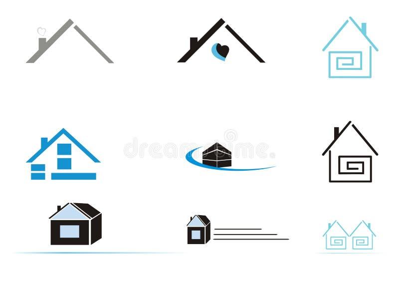 De pictogrammen van het huis vector illustratie