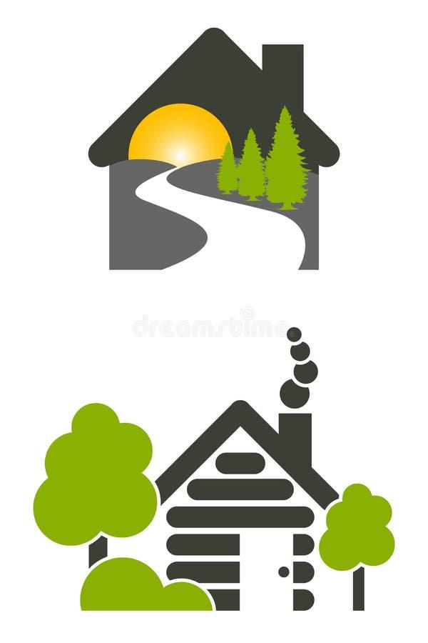 De Pictogrammen van het Huis van het logboek