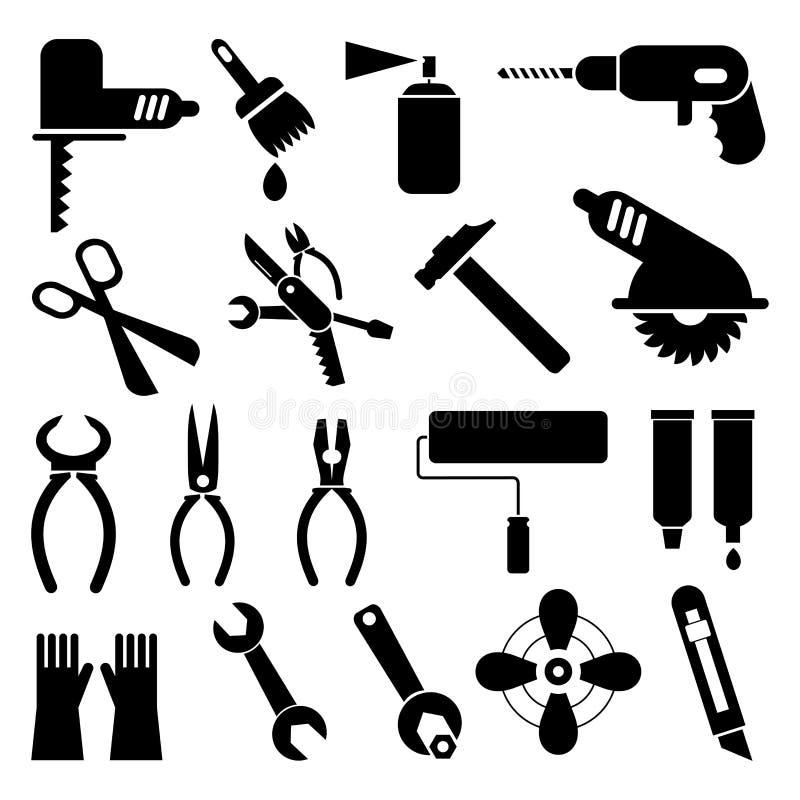 De pictogrammen van het hulpmiddel stock illustratie