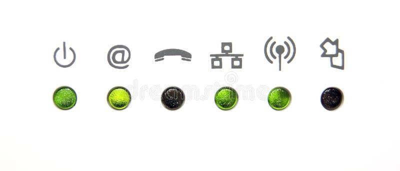 De pictogrammen van het netwerk of van Internet stock afbeelding