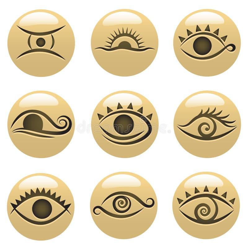 De pictogrammen van het oog royalty-vrije illustratie