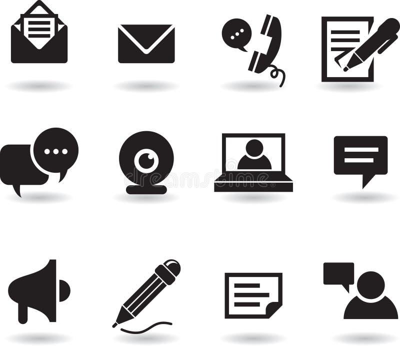 De pictogrammen van het praatje en van het overseinen stock illustratie